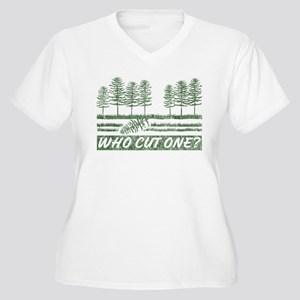 Who Cut One Women's Plus Size V-Neck T-Shirt