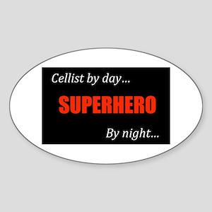 Cello Gift Oval Sticker