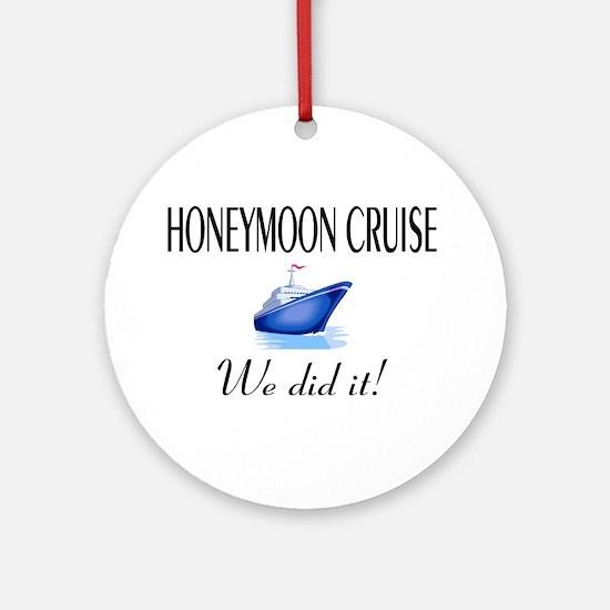 Honeymoon Cruise Ornament (Round)