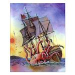 Kraken Attack 16x20 Poster