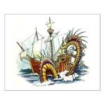 Sea Monster Attack 16x20 Poster