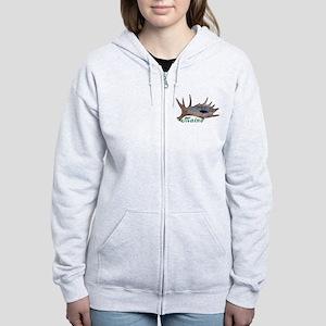 Shed moose antler Women's Zip Hoodie