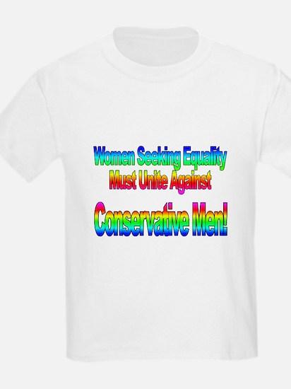 Women Seeking Equality Kids T-Shirt