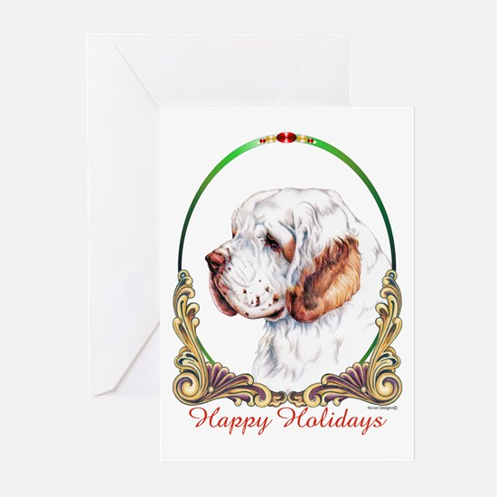 Clumber Spaniel Holiday Greeting Cards (Package of