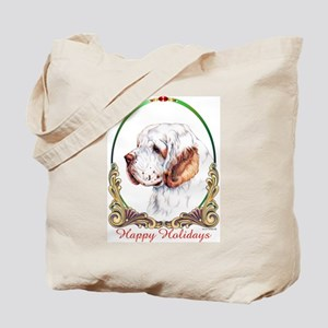 Clumber Spaniel Holiday Tote Bag