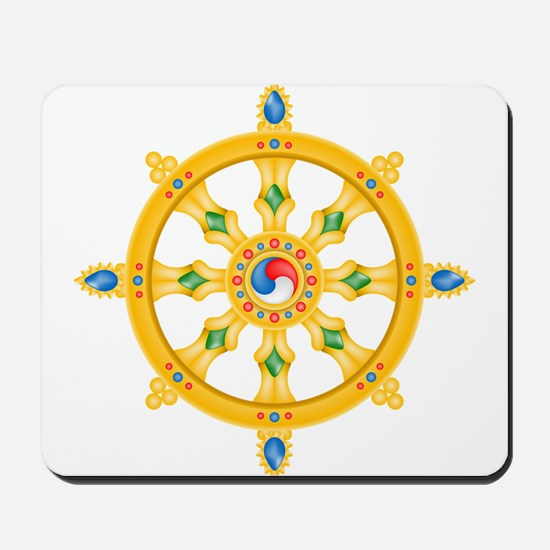Dharmachakra wheel Mousepad