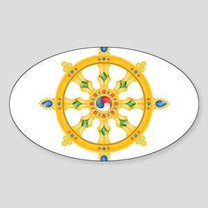 Dharmachakra wheel Oval Sticker