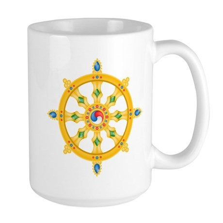 Dharmachakra wheel Large Mug