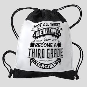 3rd Grade Teacher Drawstring Bag