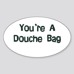Douche Bag Oval Sticker (10 pk)