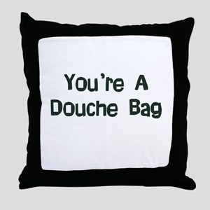 Douche Bag Throw Pillow