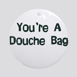 Douche Bag Ornament (Round)