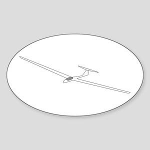 Sailplane Oval Sticker
