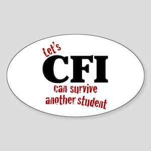 CFI can survive Oval Sticker