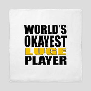 Worlds Okayest Knee Boarding Player De Queen Duvet