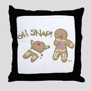 Oh Snap Holiday Throw Pillow
