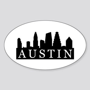 Austin Skyline Oval Sticker