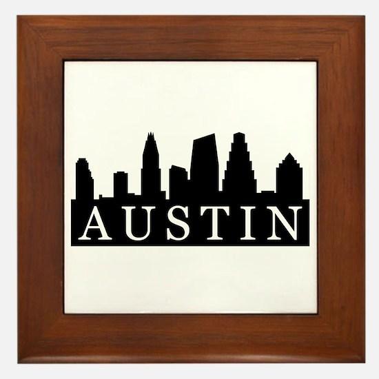 Austin Skyline Framed Tile