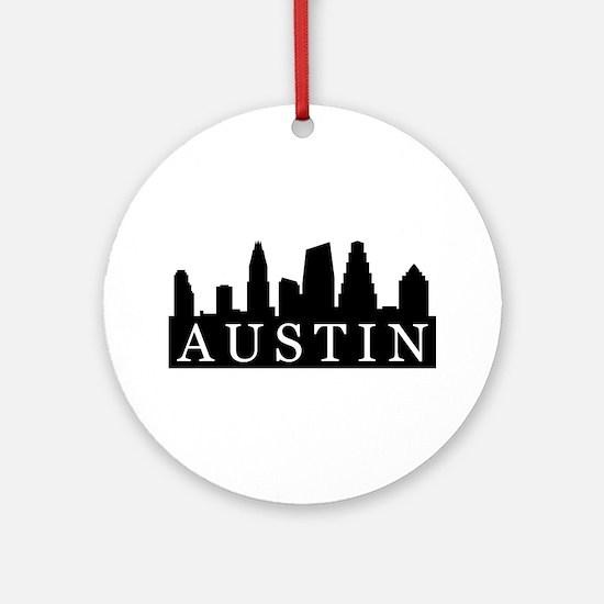 Austin Skyline Ornament (Round)