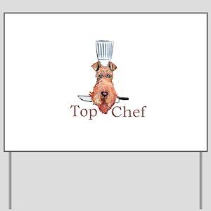 Irish Terrier Chef Yard Sign