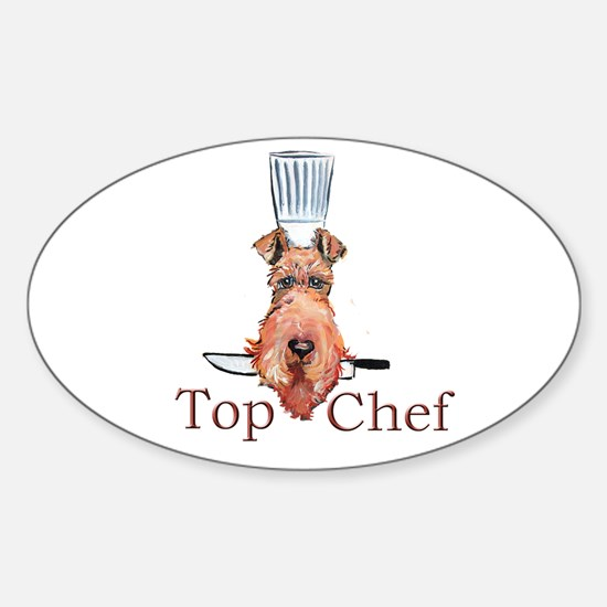 Irish Terrier Chef Sticker (Oval)