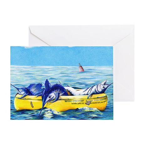 Hatteras Liferaft Greeting Card