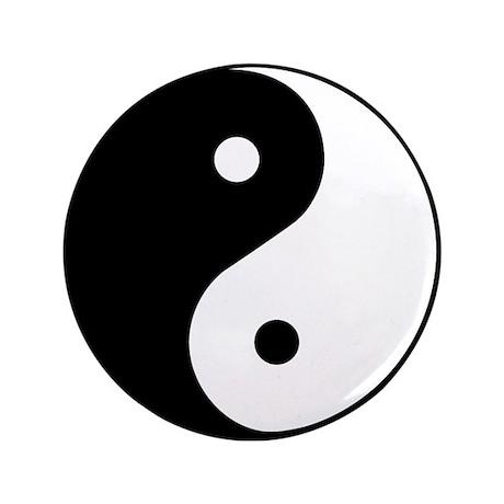 "Yin Yang Symbol 3.5"" Button (100 pack)"