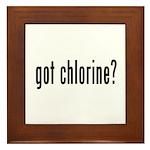 got chlorine? Framed Tile