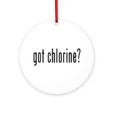 got chlorine? Ornament (Round)