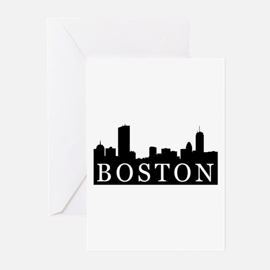 Boston Skyline Greeting Cards (Pk of 10)