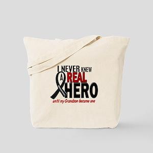 Never Knew A Hero 2 MELANOMA (Grandson) Tote Bag