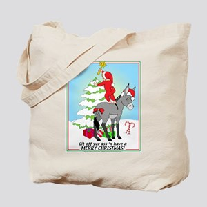 Christmas Donkey Tote Bag