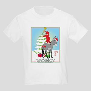 Christmas Donkey Kids Light T-Shirt