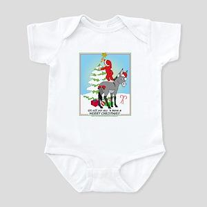 Christmas Donkey Infant Bodysuit