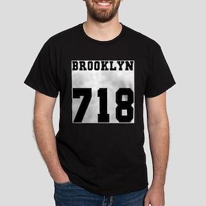 BROOKLYN 718- BLACK T-Shirt