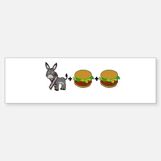 Asperger's Bumper Bumper Bumper Sticker