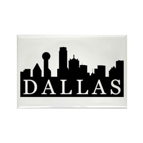 Dallas Skyline Rectangle Magnet (100 pack)