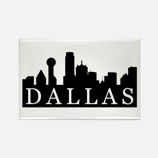Dallas Skyline Rectangle Magnet