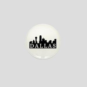 Dallas Skyline Mini Button