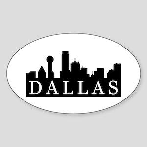Dallas Skyline Oval Sticker