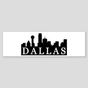 Dallas Skyline Bumper Sticker