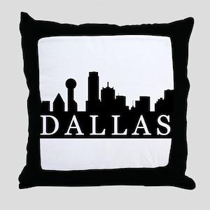 Dallas Skyline Throw Pillow