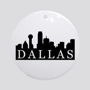 Dallas Skyline Ornament (Round)