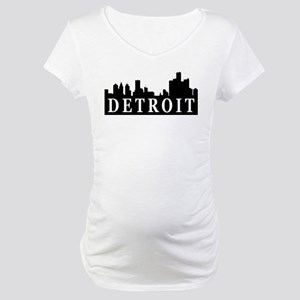 Detroit Skyline Maternity T-Shirt