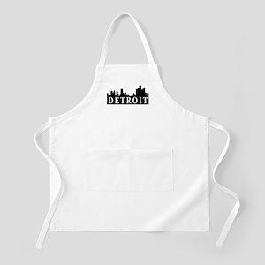 Detroit Skyline BBQ Apron
