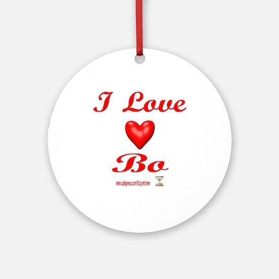 I LOVE BO Ornament (Round)