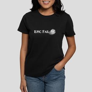 Epic Fail d20 Women's Dark T-Shirt