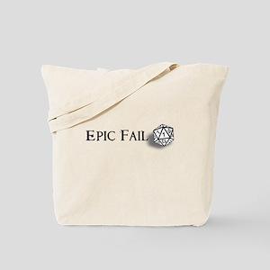 Epic Fail d20 Tote Bag