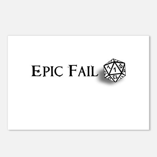 Epic Fail d20 Postcards (Package of 8)