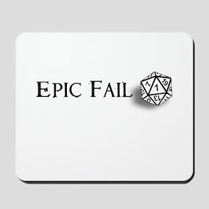 Epic Fail d20 Mousepad